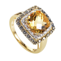 LeVian Yellow Gold Diamond Gemstone Ring
