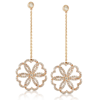 Poiray 18K Rose Gold Drop Diamond Earrings