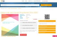 Global Over-the-Counter Drug Market 2016 - 2020