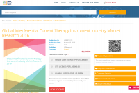 Global Interferential Current Therapy Instrument Industry