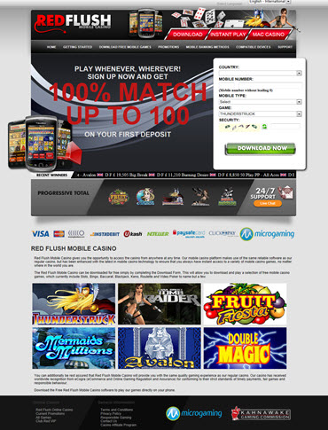 New Red Flush mobile casino'