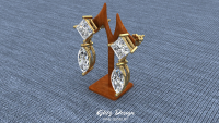 Princess Cut Dangle Diamond Earrings