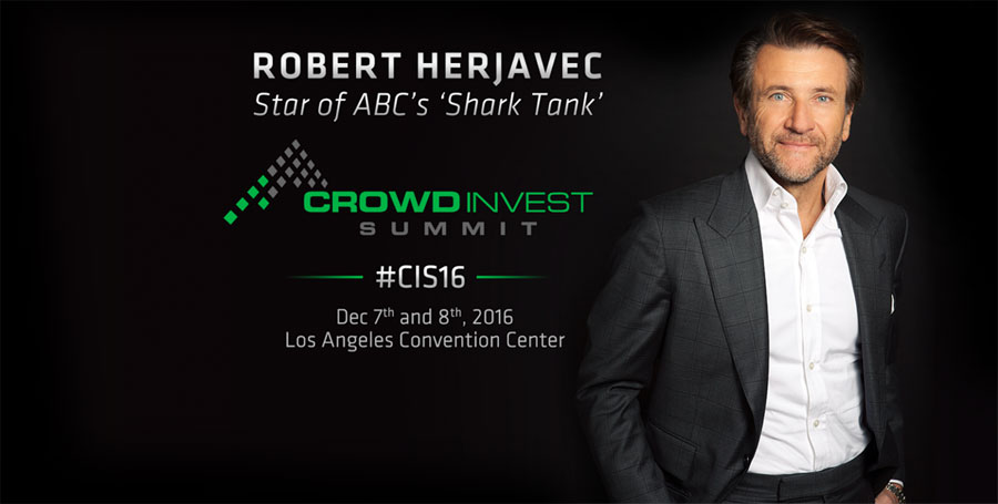 ABC Shark Tank Star Robert Herjavec @ Crowd Invest Summit