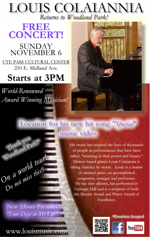 Official Concert Poster for Woodland Park'