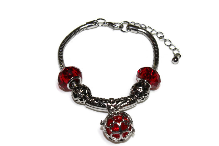 Ruby Red Aromatherapy Charm Bracelet from Star Essentials