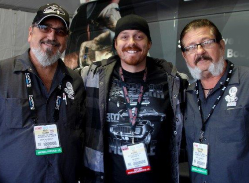 Captain Bob and Arlo with KC Mathieu'