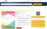 Finland Market Report for Hearing Aids 2016  - MedCore