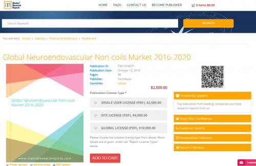 Global Neuroendovascular Non-coils Market 2016 - 2020'