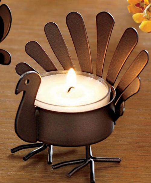 Turkey Tea Light Holder'