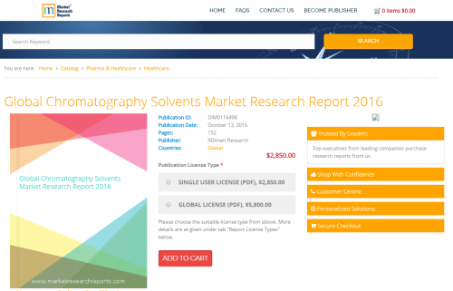 Global Chromatography Solvents Market Research Report 2016'