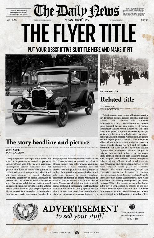 Newspaper Template by Fullerworks.com Design'