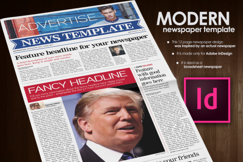 Modern Newspaper Template by Fullerworks.com Design'