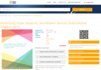 Advertising, Public Relations And Related Services Global