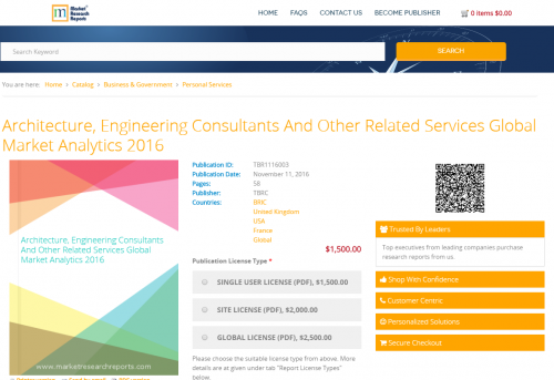 Architecture, Engineering Consultants And Other Related'