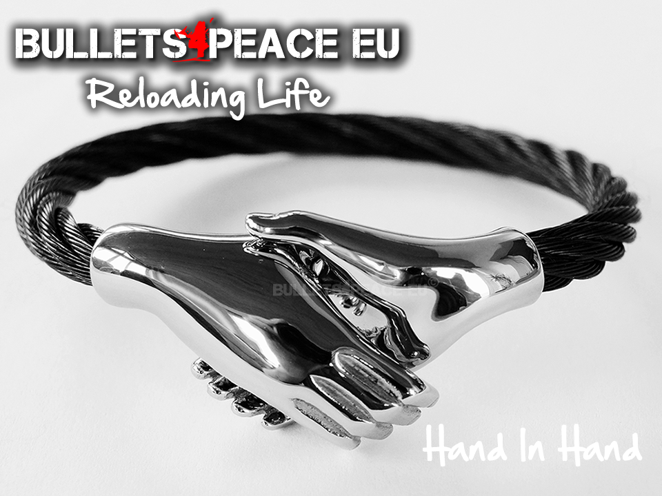 Bullets4Peace Hand In Hand Black
