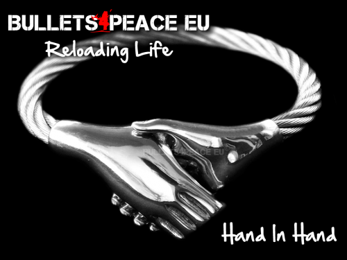 Bullets4Peace Hand In Hand Silver'