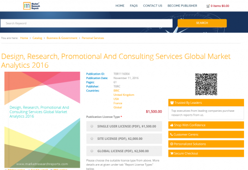 Design, Research, Promotional And Consulting Services Global'