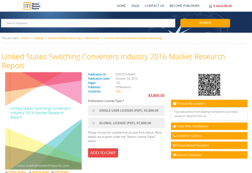 United States Switching Converters Industry 2016 Market'