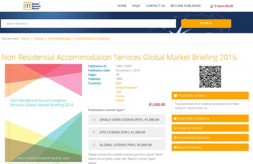 Non-Residential Accommodation Services Global Market'