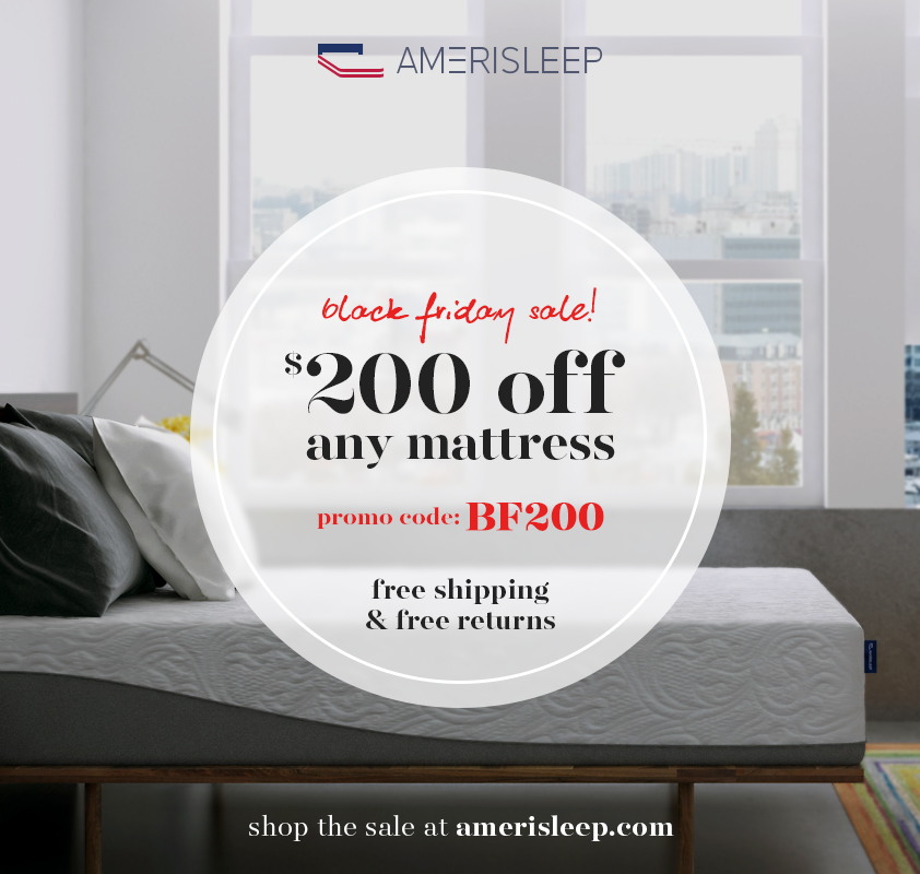 Amerisleep Launches Black Friday Mattress Sale Early in 2016