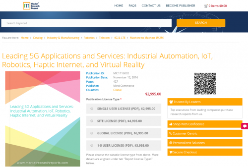 Leading 5G Applications and Services: Industrial Automation'