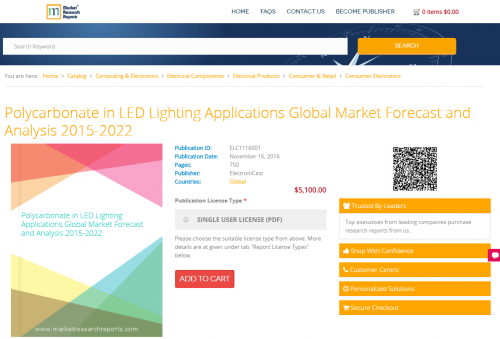 Polycarbonate in LED Lighting Applications Global Market'