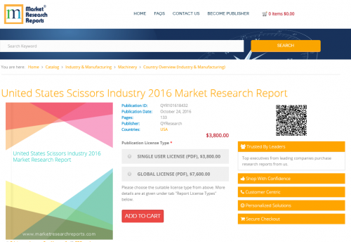 United States Scissors Industry 2016 Market Research Report'