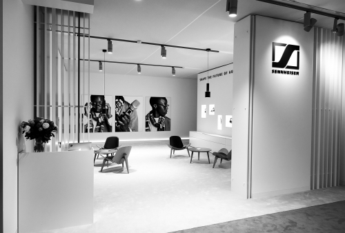 The Sennheiser Lounge, located within Art Basel'