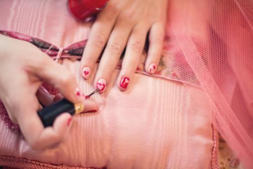 Valentine-nails'