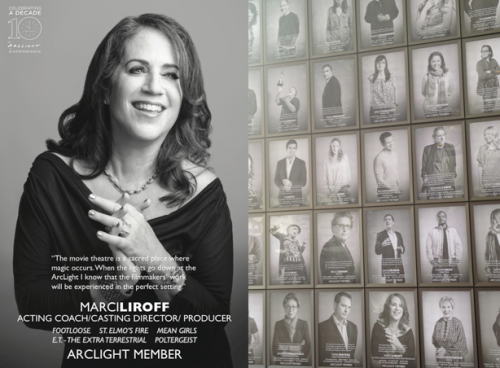 Casting director Marci Liroff added to the Arclight wall'