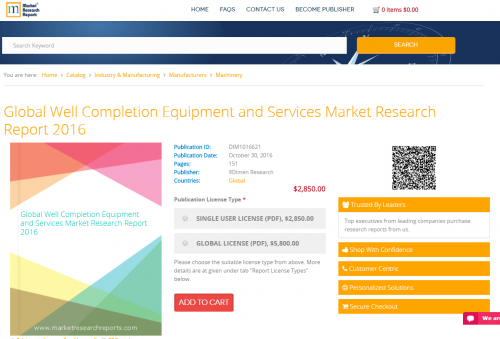 Global Well Completion Equipment and Services Market'