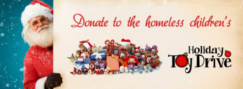 Annual Holiday Toy Drive Banner'