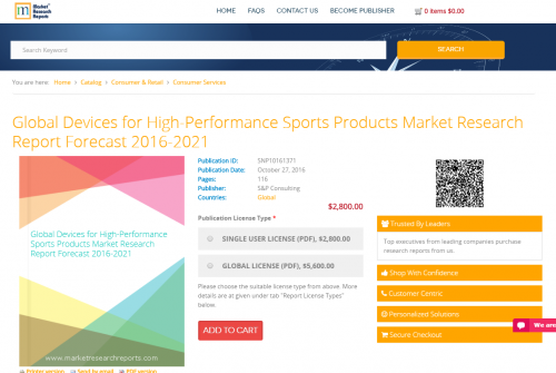 Global Devices for High-Performance Sports Products Market'