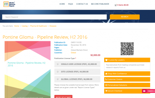 Pontine Glioma - Pipeline Review, H2 2016'