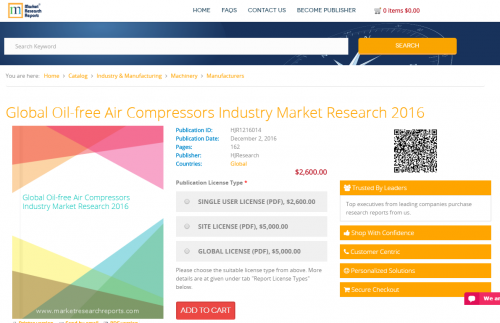 Global Oil-free Air Compressors Industry Market Research'