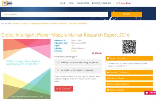 Global Intelligent Power Module Market Research Report 2016'