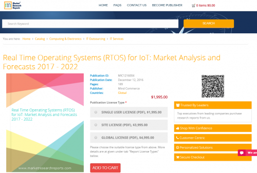 Real Time Operating Systems (RTOS) for IoT: Market Analysis'