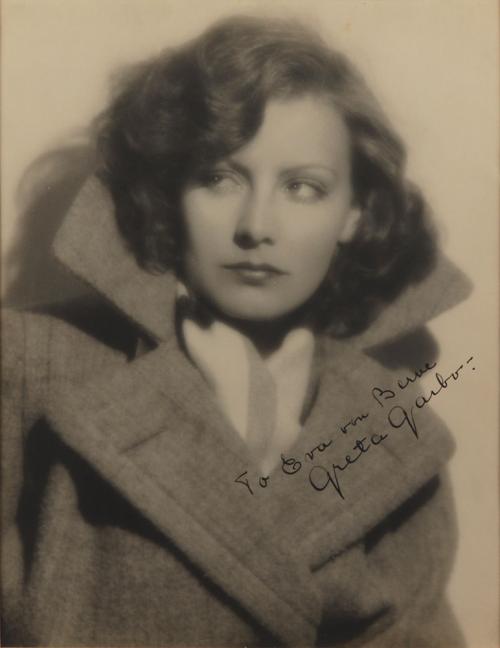 Greta Garbo Oversized Signed Photograph'