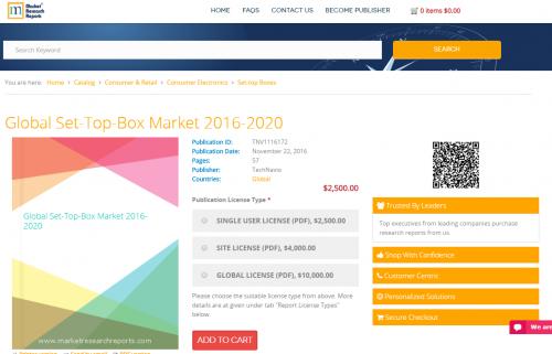 Global Set-Top-Box Market 2016 - 2020'