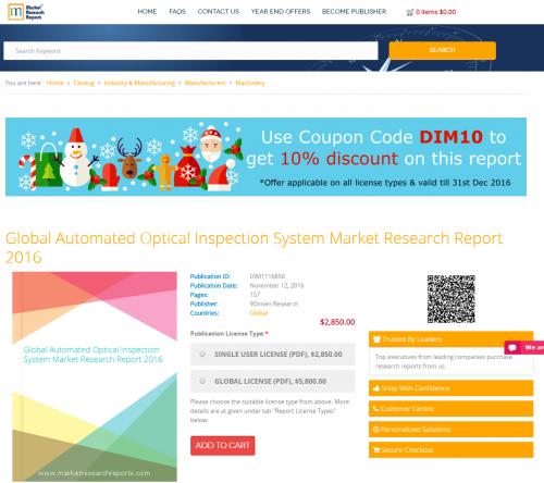 Global Automated Optical Inspection System Market Research'