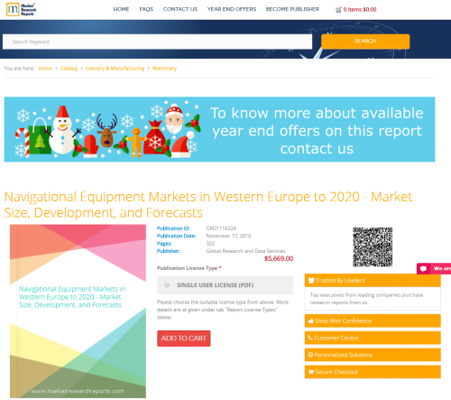 Navigational Equipment Markets in Western Europe to 2020'
