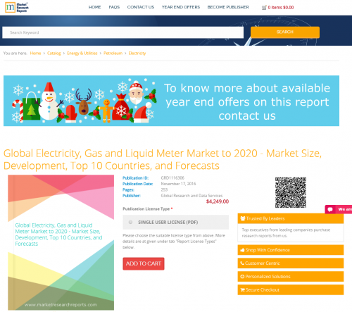 Global Electricity, Gas and Liquid Meter Market to 2020'