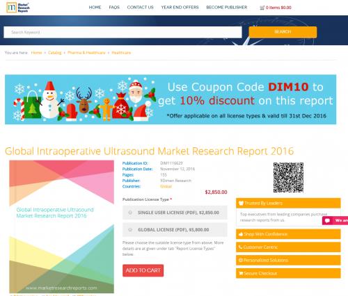 Global Intraoperative Ultrasound Market Research Report 2016'