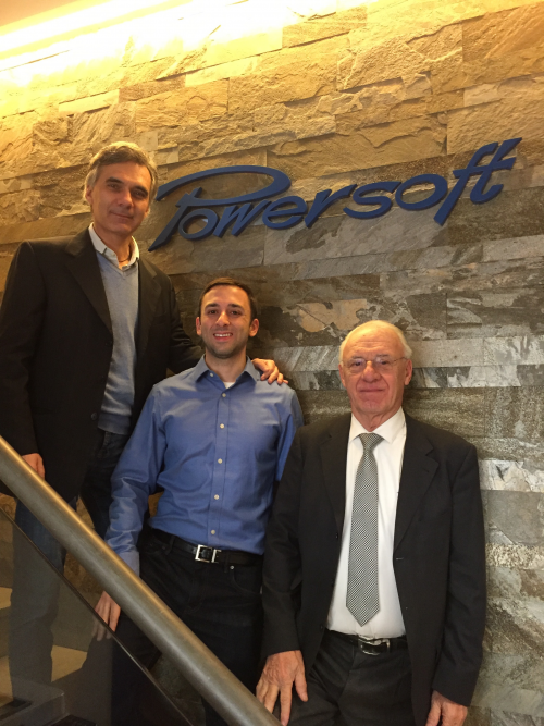 From left to right, Luca Lastrucci, General Manager, Gino Pe'