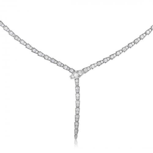 Bvlgari Diamond Necklace Serpenti Collection'