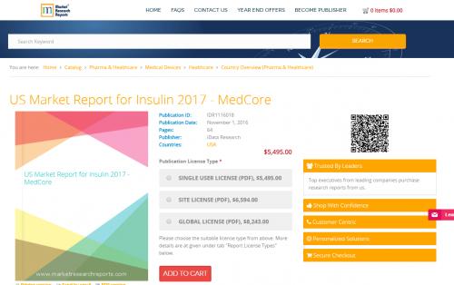 US Market Report for Insulin 2017 - MedCore'