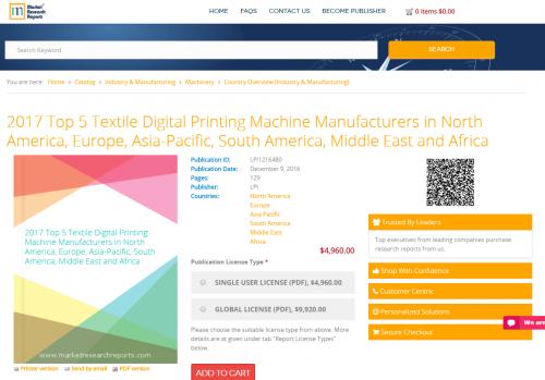 2017 Top 5 Textile Digital Printing Machine Manufacturers'