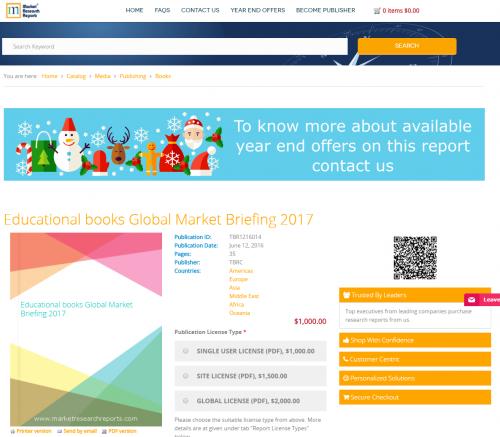 Educational books Global Market Briefing 2017'