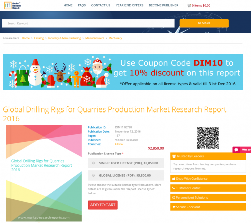 Global Drilling Rigs for Quarries Production Market Research'