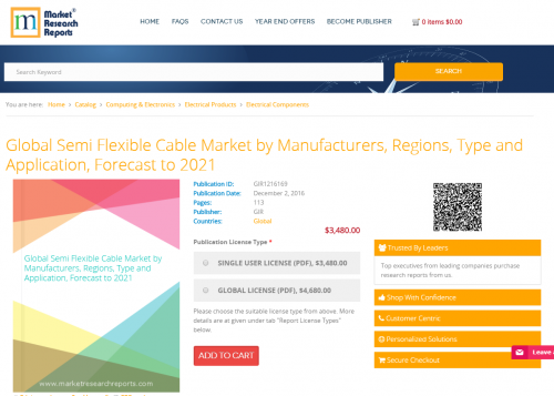 Global Semi Flexible Cable Market by Manufacturers, Regions'